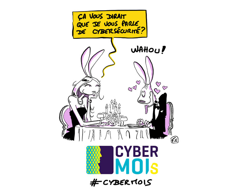 Illustration Le Cybermois par l'ANSSI